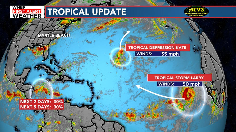The tropics remain active as we head into September.