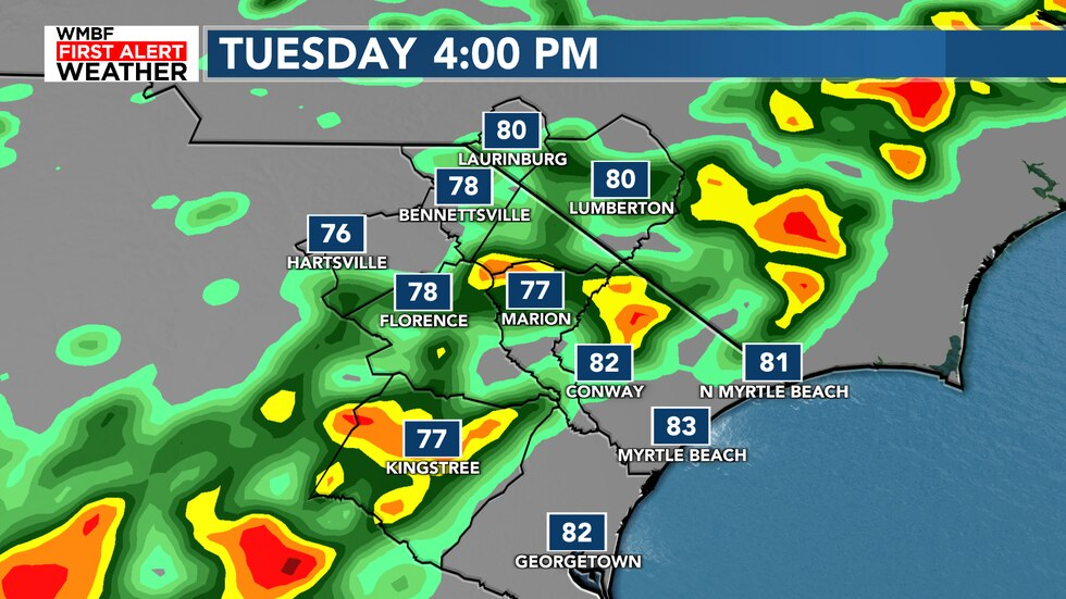 A cold front will bring a line of showers and storms to the area. This will bring another round...