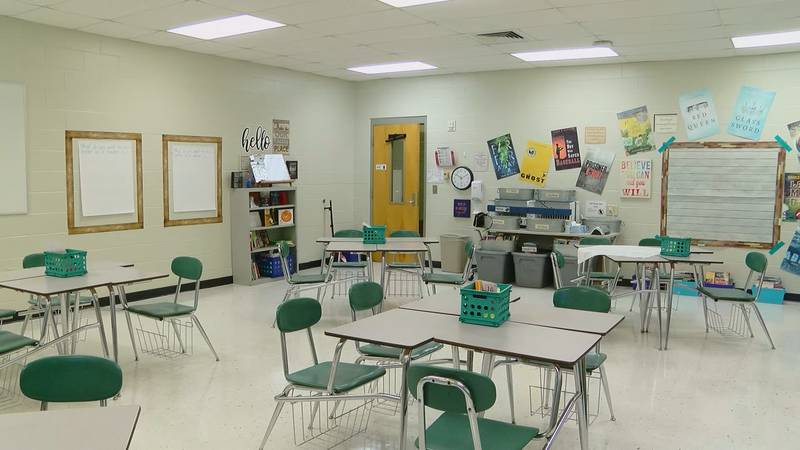 This year, plexiglass dividers will not go up in between desks inside HCS and masks will be...