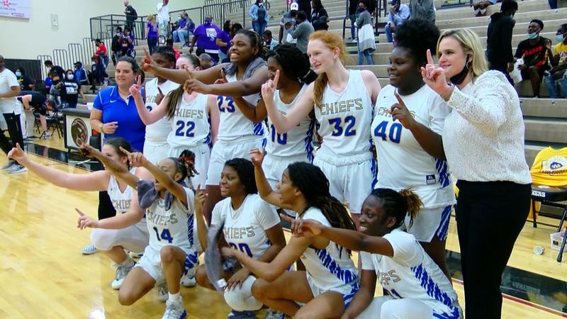 The Lady Chiefs following their win over Darlington in the Class 4A Lower State Championship