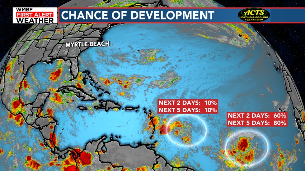There is now a high chance of development in the Atlantic.