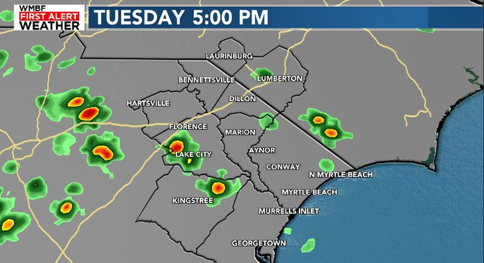 A stray shower is possible this afternoon.