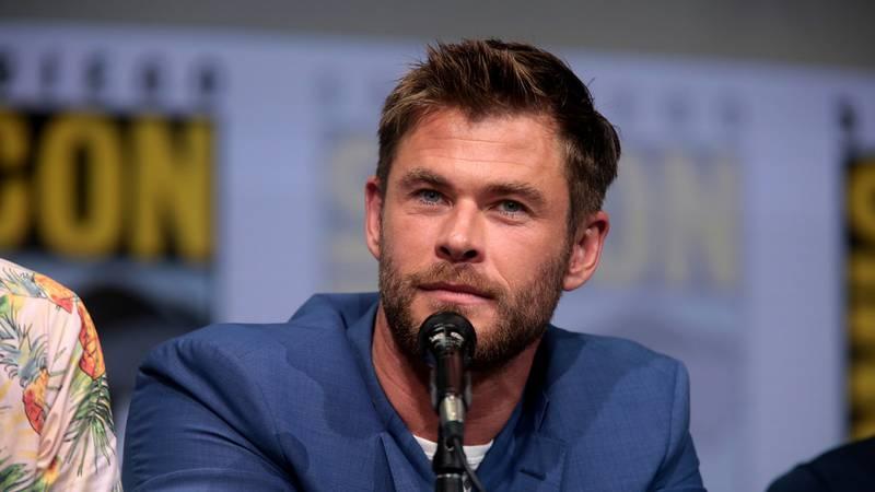 "Chris Hemsworth speaking at the 2017 San Diego Comic Con International, for ""Thor: Ragnarok"",..."