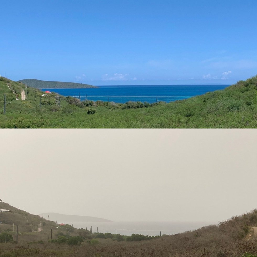 The Saharan Dust has resulted in reduced visibility and hazy skies across the Caribbean (Antigua)