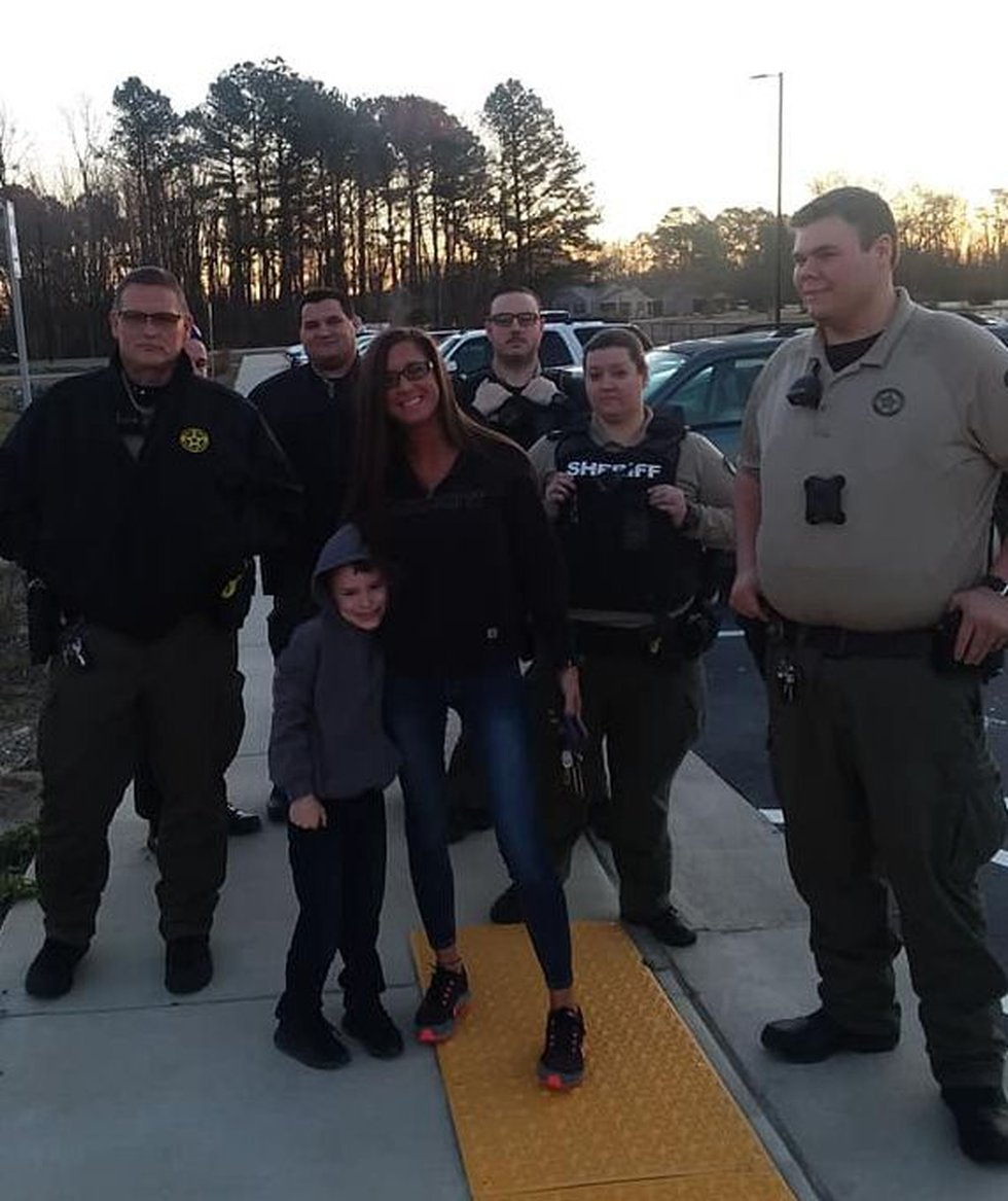 Not one, but several deputies and an officer with the Burgaw Police Department escorted Daniel...