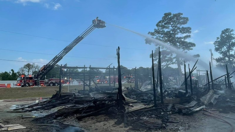 Crews were called to a two-alarm fire at the North Myrtle Beach Flea Market on Thursday.