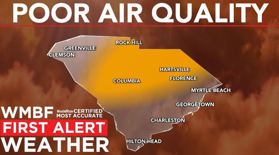 Poor air quality is likely at times across the Pee Dee.