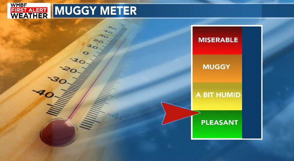Lower humidity moves in.
