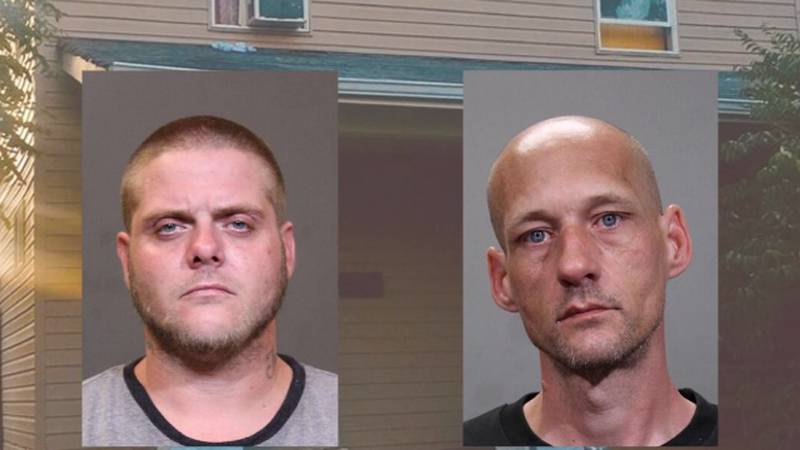 Mark Buckler and Timothy Peck were two of nine suspects taken into custody