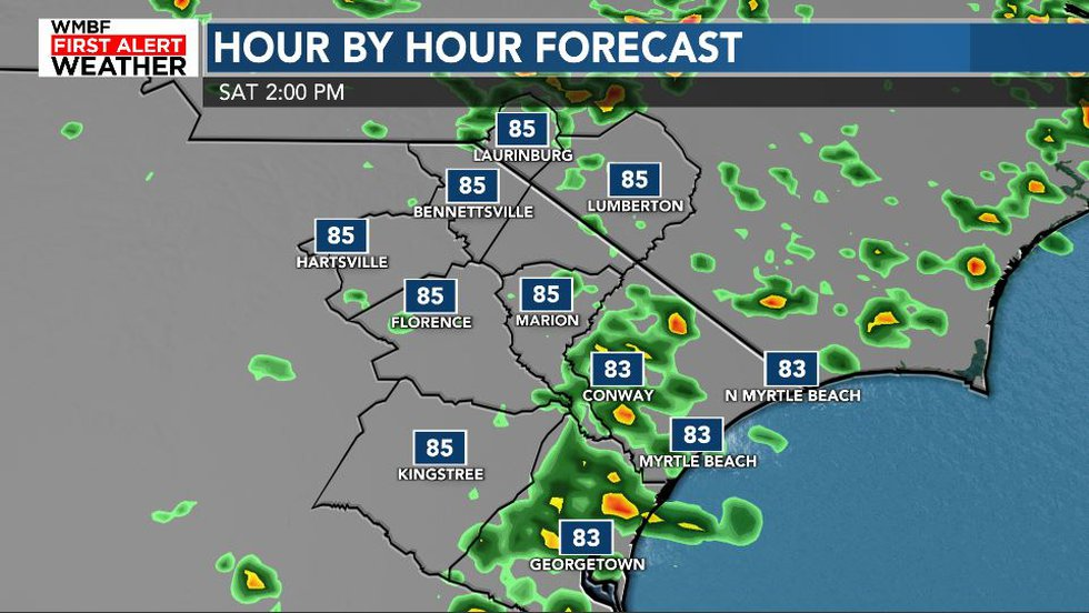 A few afternoon storms are likely today.