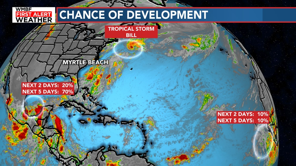 Here's a look at the two chances of development.
