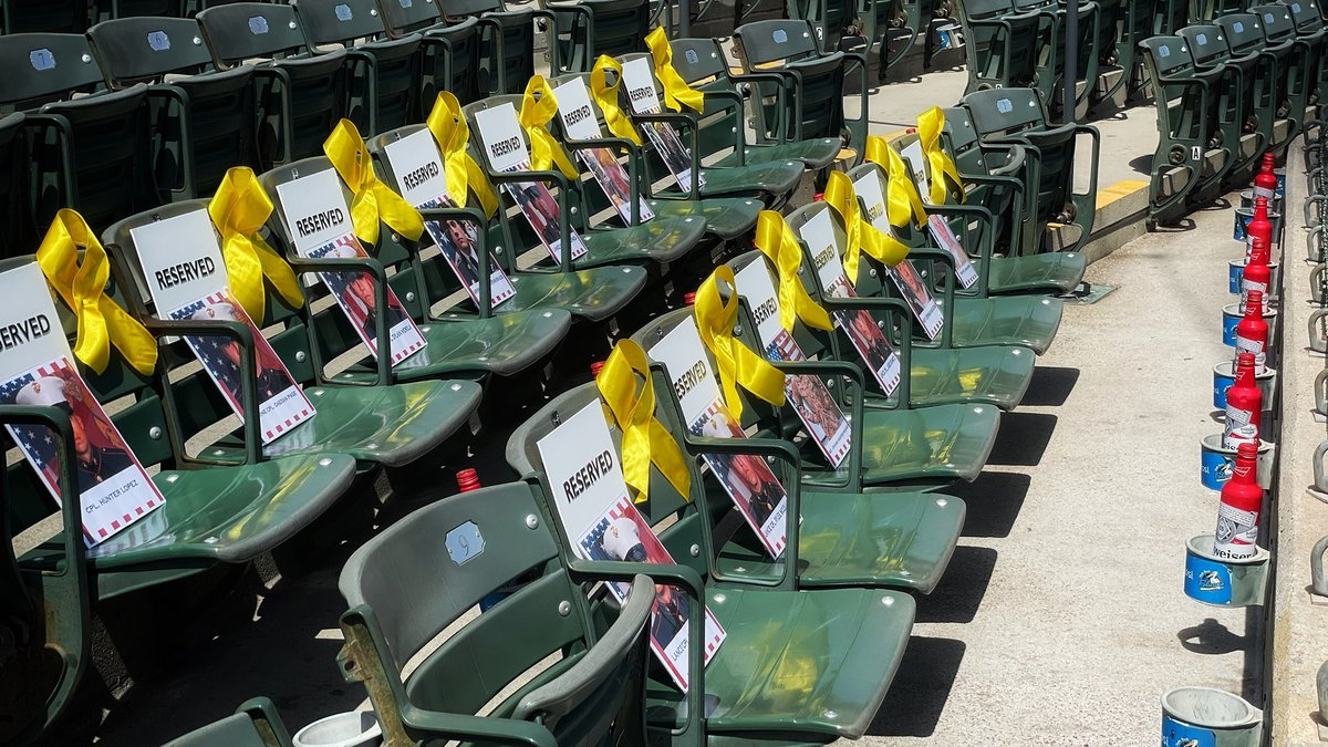 The Myrtle Beach Pelicans announced that 13 seats will be left empty at the ballpark to honor...