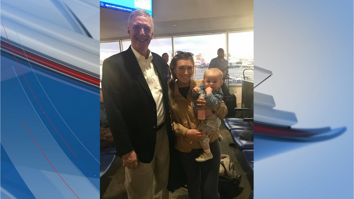Congressman Tom Rice gave his first-class seat to a mother and her baby who were headed to...