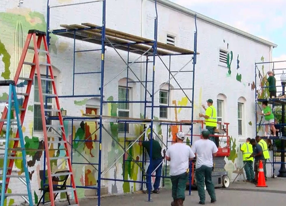 'We're proud of the place we live': Brand new mural taking shape in Conway