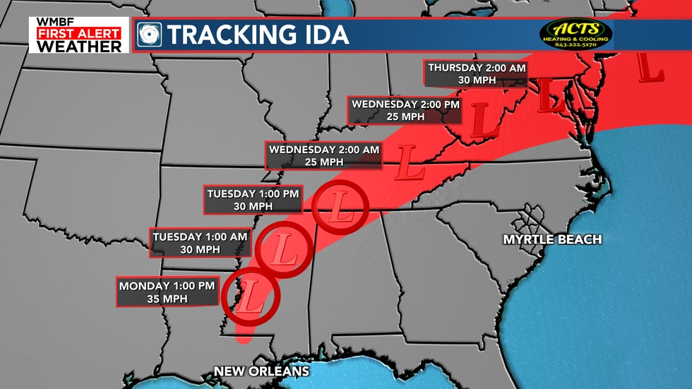 Ida will weaken to a tropical depression later today but still bring major impacts in the way...