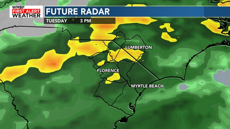 Rain chances ramp back up in time for tomorrow.