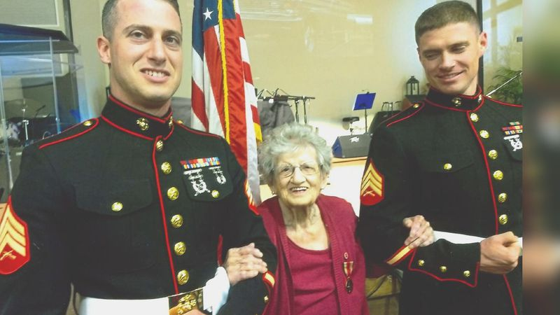 'A real inspiration': Oldest living Marine casts ballot in Kannapolis, shares voting memories...