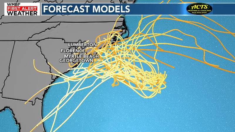 The system will drift toward the coast this weekend.