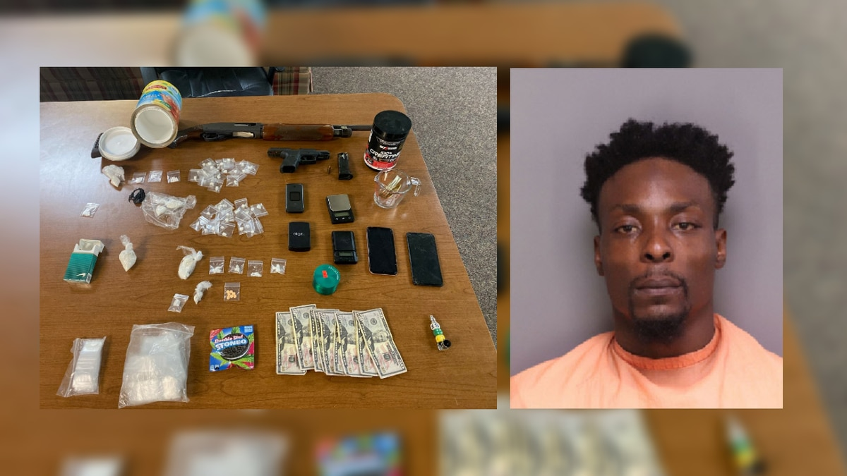 Micah Andrew Washington (right) is facing charges after police found drugs and firearms at a...