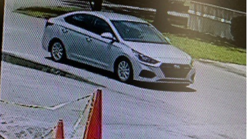 Police are looking for this Hyundai that may be connected to a homicide investigation.