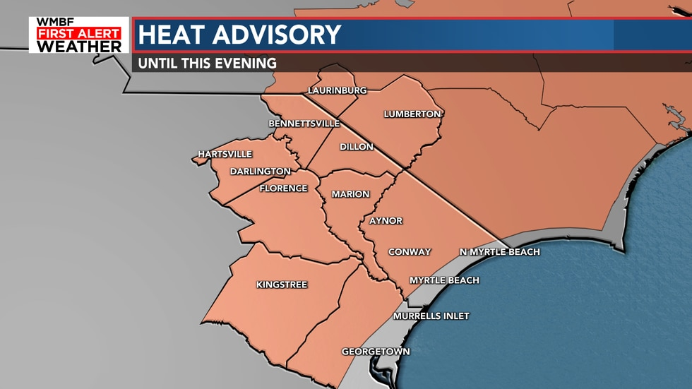 A Heat Advisory has been issued but does not include the beaches. Areas under the advisory will...