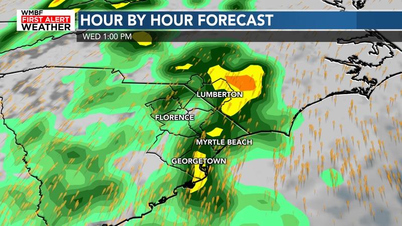 Heavy rain begins to arrive Wednesday