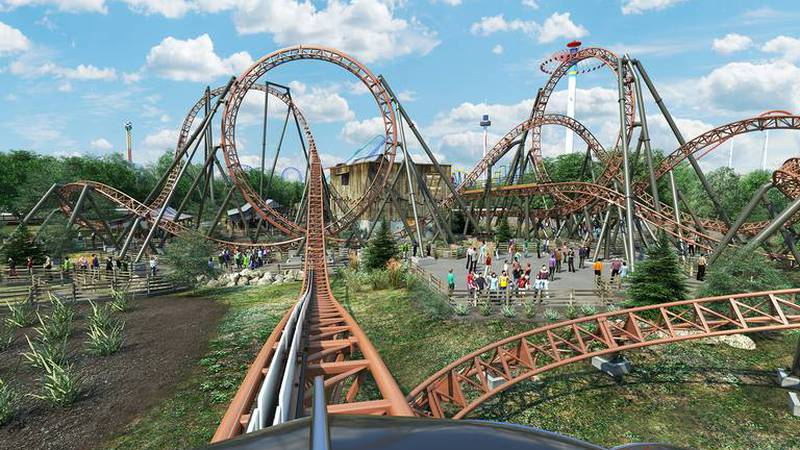 """Carowinds has announced plans for a new section of the theme park, including its """"double..."""
