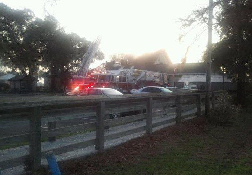 Dead Dog Saloon fire in Murrells Inlet (Source: Laura McKnight Barnett)