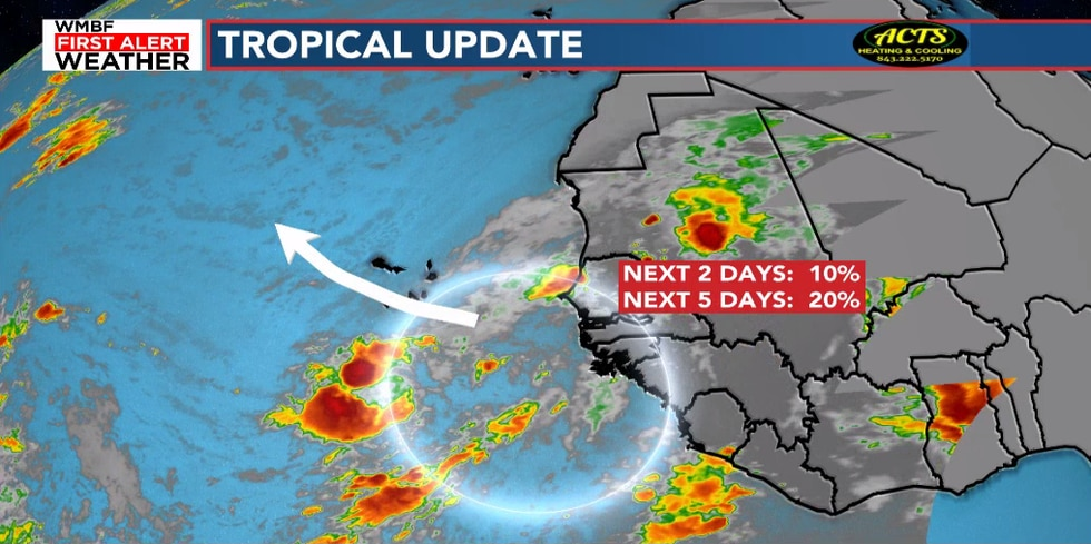 Another tropical wave is coming off the coast of Africa.
