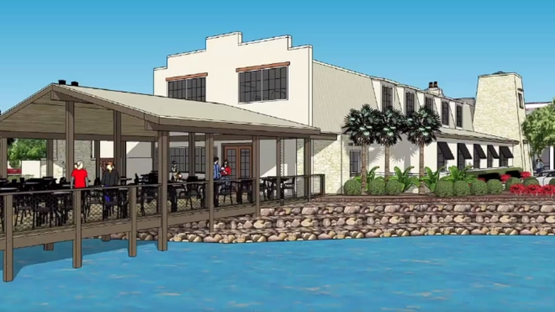 Renderings of the proposed Cane Patch Restaurant in Myrtle Beach were shown during the May 6...