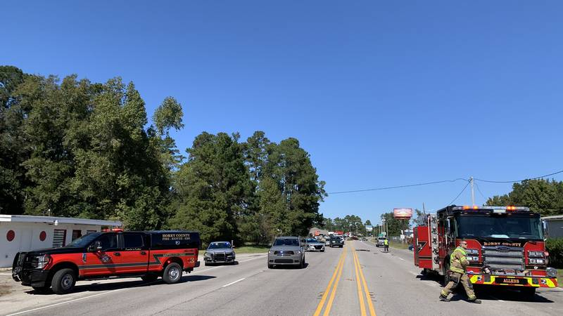 Crews are at the scene of a multi-vehicle crash with injuries Tuesday afternoon in the Conway...
