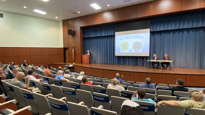 Authorities in Florence County hosted a public forum Tuesday on the open carry law that goes...