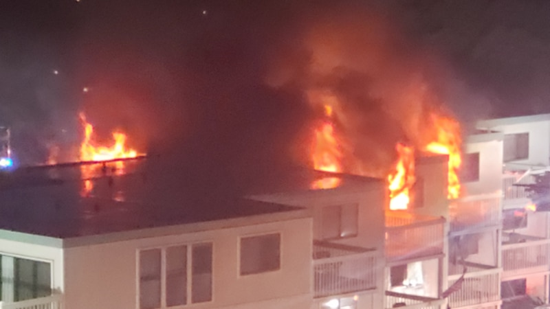 Crews responded to a four-alarm fire at a Myrtle Beach apartment complex June 1.