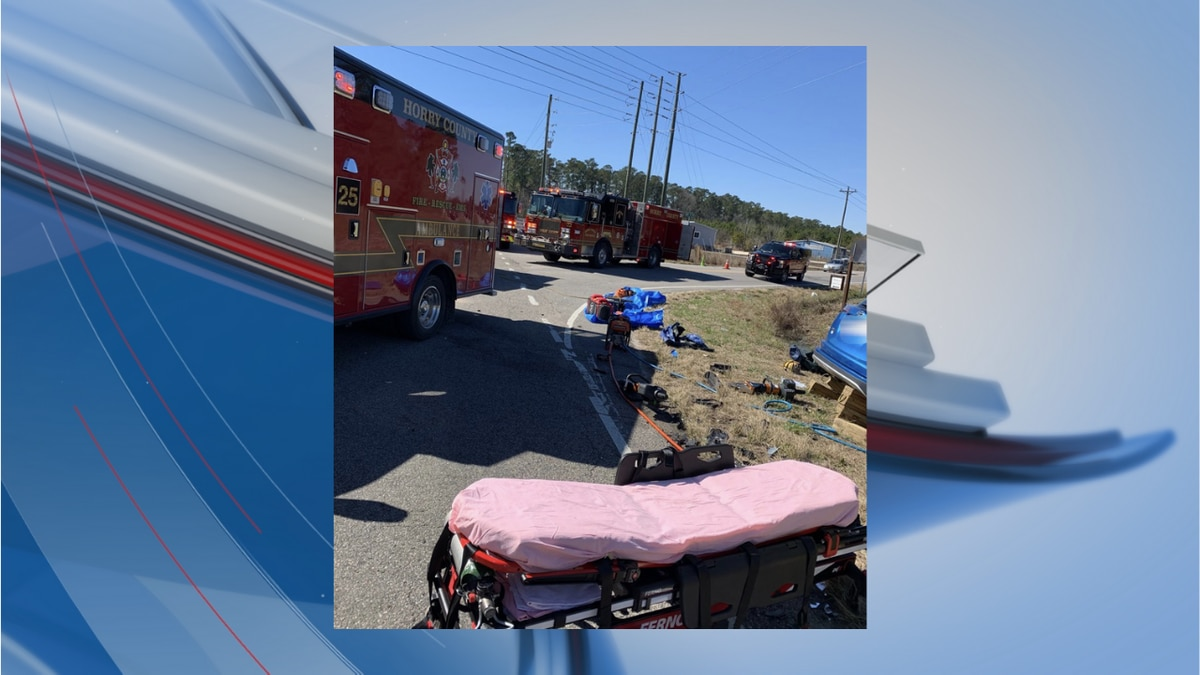 Crews were called to this crash in the area of Highway 19 and Highway 45 in Loris on Sunday.