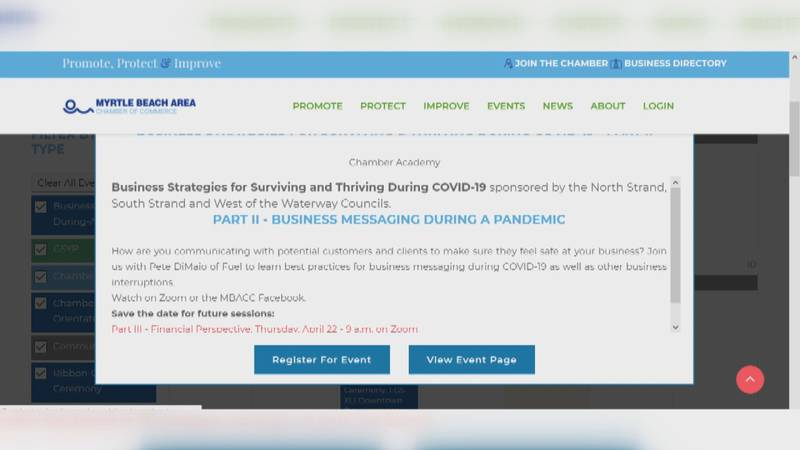 MBACC website link to register