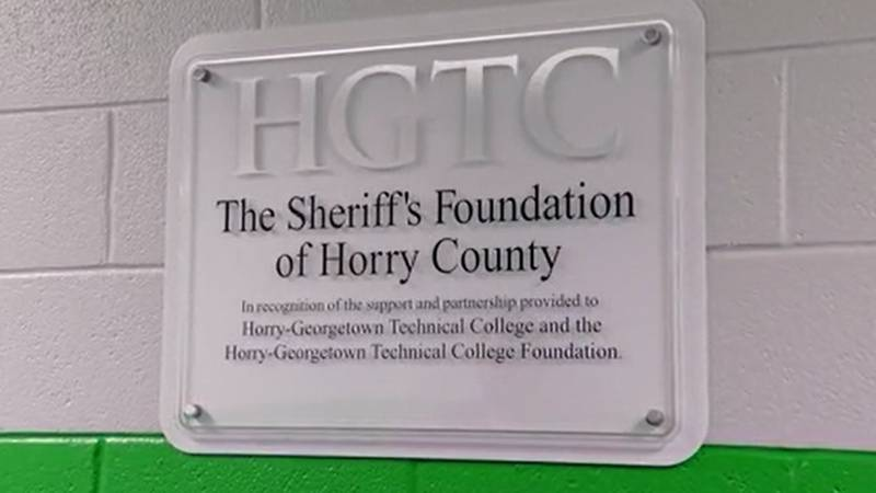 HGTC named its criminal scene investigation lab in honor of the Sheriff's Foundation of Horry...