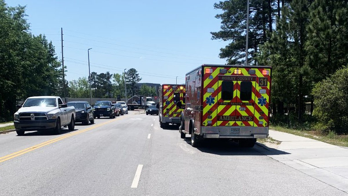 Five people were injured in a crash on Singleton Ridge Road in Conway Wednesday afternoon.
