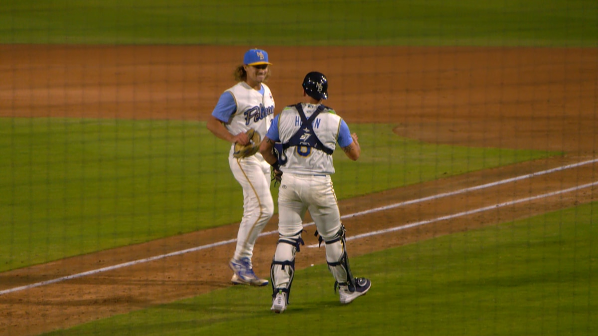 Eighth inning rally gives Pelicans the win in home opener, 4-2