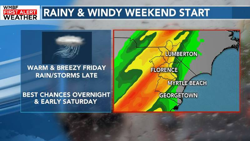 Rain chances increasing late Friday