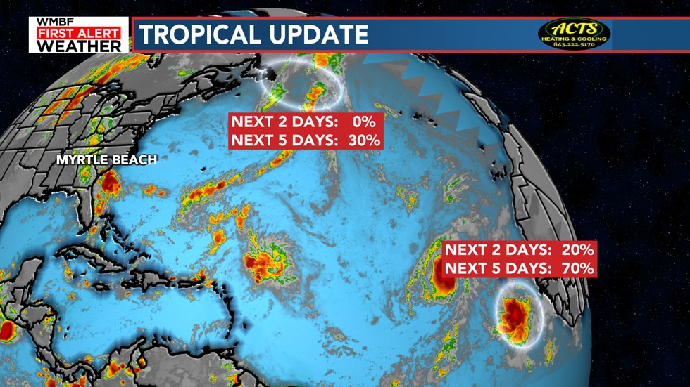 The chance of development we continue to keep an eye on is the system coming off the coast of...