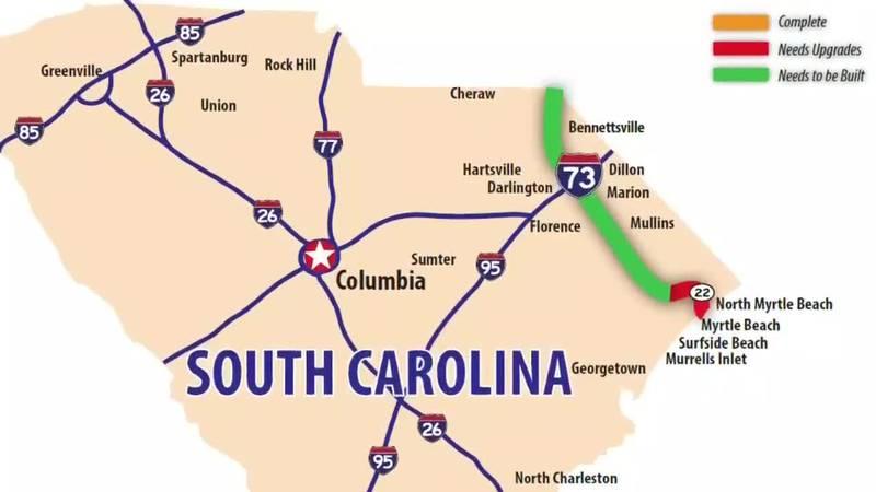 I-73 plans through Horry County