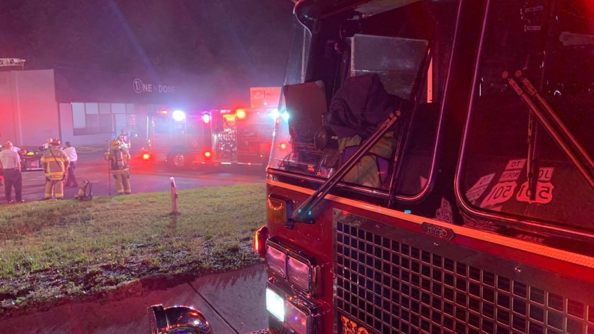 An investigation is underway after a building fire early Monday morning in the Conway area.