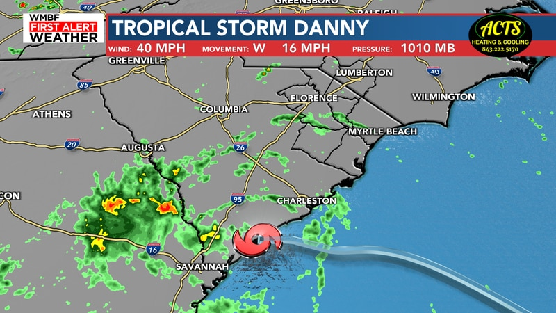 Tropical Storm Danny 8 p.m. Monday update
