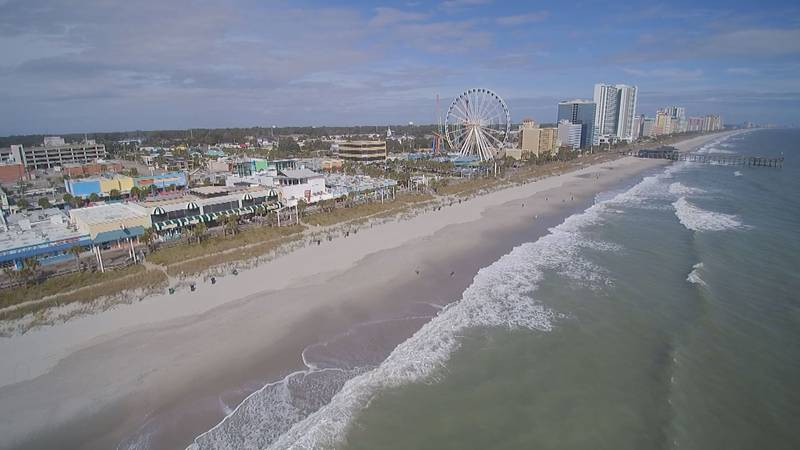 Aerial view of Downtown Myrtle Beach.