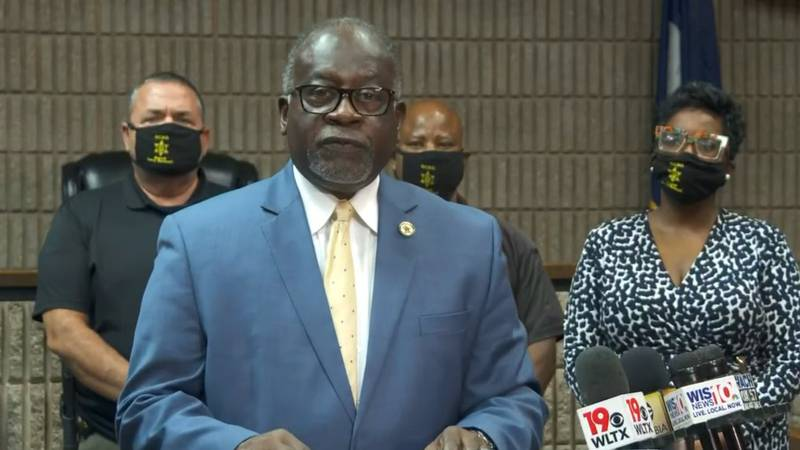 Sheriff Leroy Ravenell during a press conference Thursday afternoon on the shooting at...