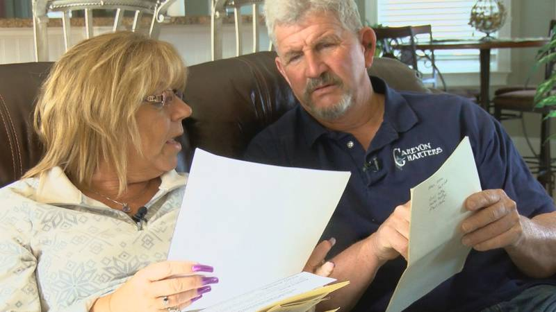 Myrtle Beach couple Patti and Danny Carey review the contracts they've entered with various...