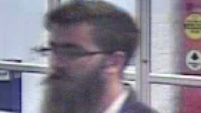 Florence Police say this man is wanted for questioning regarding a Walmart display case...