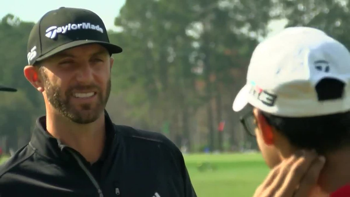 Dustin Johnson was on hand for the opening of his namesake golf academy on Thursday. (Source:...