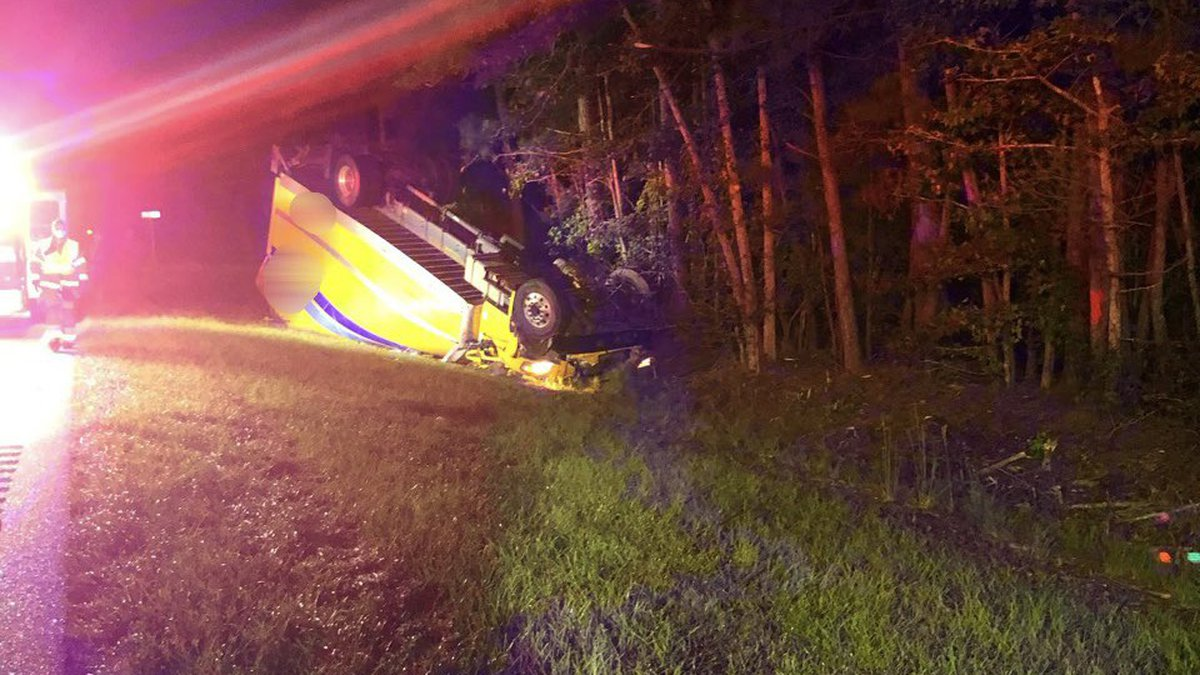 Horry County Fire Rescue responded to a crash involving a box truck early Monday morning in...