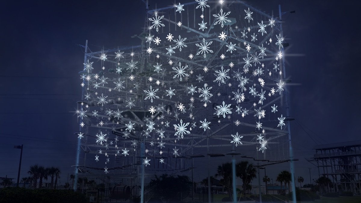 The Myrtle Beach Area Chamber of Commerce released pictures of what the holiday light show will...